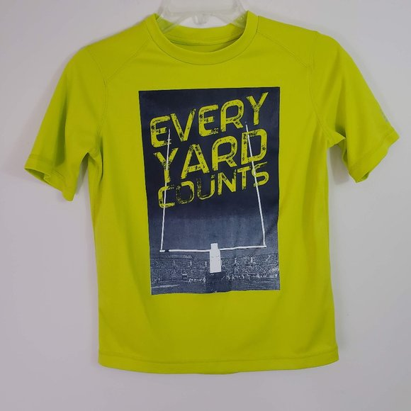 LANDS/' END Husky Boys XL 18//20 Neon Yellow Rashguard Swim Tee NWT